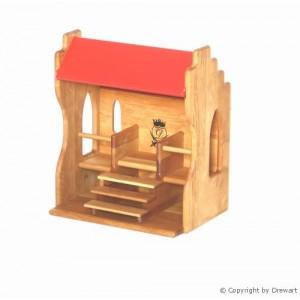 Drewart Kleiner Turnierplatz mit rotem Dach - Holzspielzeug-Profi