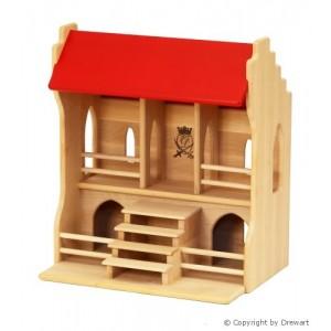 Drewart Großer Turnierplatz mit rotem Dach - Holzspielzeug-Profi