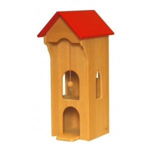 Drewart Kran mit rotem Dach - Holzspielzeug Profi