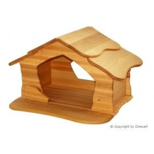 Drewart Große Krippe (Schuppen) natur - Holzspielzeug Profi