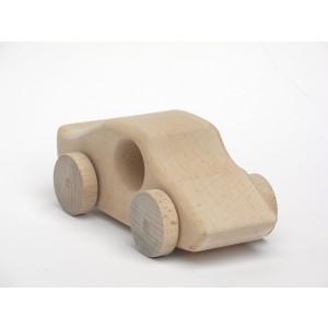 Holzauto Fiona natur von Schaukeltier: von vorne - Holzspielzeug Profi