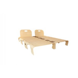 Flowerssori Kingsize Bett ohne Fußteile - Holzspielzeug Profi