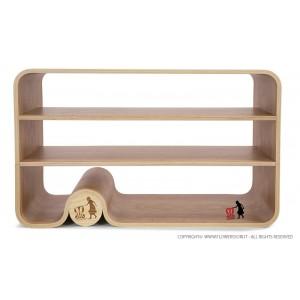 Flowerssori Bücherregal Cat 0 mit offener Rückwand - Holzspielzeug Profi