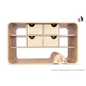 Flowerssori Kommode Cat 0: von vorne - Holzspielzeug Profi