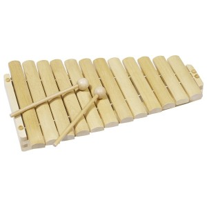 goki Xylophon 12 Noten- Holzspielzeug Profi