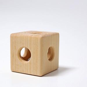 GRIMM´S Rasselgreifling Klingender Würfel - Holzspielzeug Profi