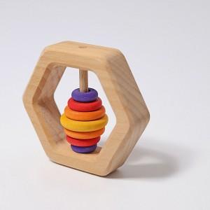 GRIMM´S Sechseck Rassel - Holzspielzeug Profi