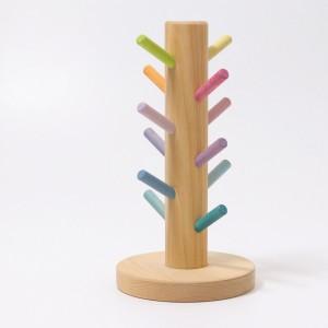 GRIMM´S Sortierhilfe Bauringe pastell - Holzspielzeug Profi
