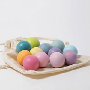 GRIMM´S Kleine Pastellkugeln (Lieferung ohne Stoffbeutel) - Holzspielzeug Profi