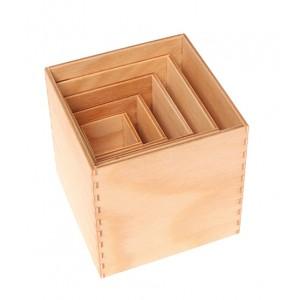 GRIMM´S Kleiner Kistensatz natur - Holzspielzeug Profi