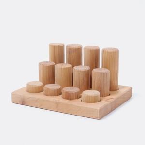 GRIMM´S Steckspiel Kleine Bauwalzen natur- Holzspielzeug Profi