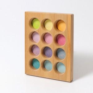 GRIMM´S Sortierbrettchen pastell - Holzspielzeug Profi