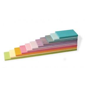 GRIMM´S Bauplatten Pastell  - Holzspielzeug Profi