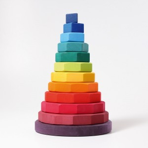 GRIMM´S Riesiger geometrischer Scheibenturm - Holzspielzeug Profi