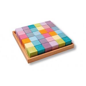 GRIMM´S 36 Würfel pastell  - Holzspielzeug Profi