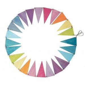 GRIMM´S Wimpelkette Pastell: aus 24 Teilen - Holzspielzeug Profi