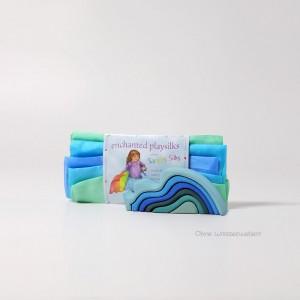 Sarah´s Silks Verzauberte Spielseide Regenbogen: OHNE Wasserwellen - Holzspielzeug Profi