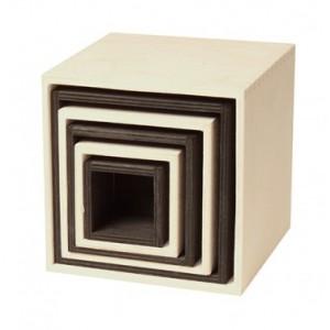 GRIMM´S Großer Kistensatz monochrom - Holzspielzeug Profi