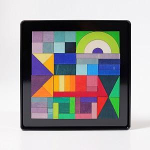 GRIMM´S Magnetspiel Geo-Grafisch - Holzspielzeug Profi