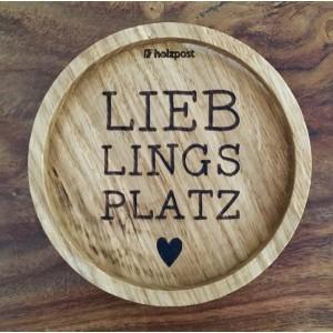 """Holzpost® Untersetzer Bierdeckel """"Lieblingsplatz"""" - Holzspielzeug Profi"""
