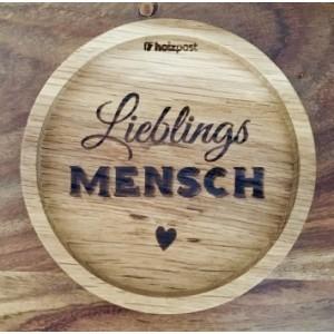 """Holzpost® Untersetzer Bierdeckel """"Lieblingsmensch"""" - Holzspielzeug Profi"""