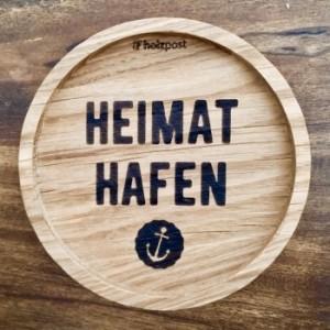 """Holzpost® Untersetzer Bierdeckel """"Heimathafen"""" - Holzspielzeug Profi"""
