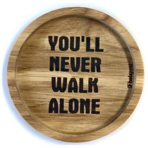 """Holzpost® Untersetzer Bierdeckel """"You´ll never walk alone"""" - Holzspielzeug Profi"""