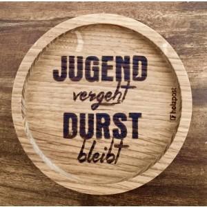 """Holzpost® Untersetzer Bierdeckel """"Jugend vergeht"""" - Holzspielzeug Profi"""