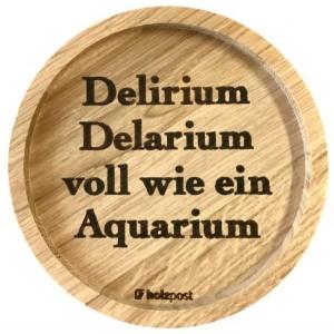 """Holzpost® Untersetzer Bierdeckel """"Delirium"""" - Holzspielzeug Profi"""