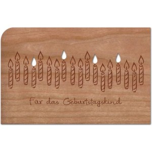 """Holzpost Grußkarte """"Kerzen für das Geburtstagskind""""  - Holzspielzeug Profi"""