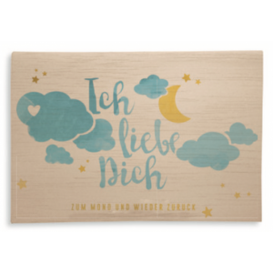 """Holzpost Klappkarte """"Ich liebe Dich"""" - Holzspielzeug Profi"""