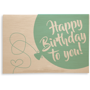 """Holzpost Klappkarte """"Happy Birthday Luftballon"""" - Holzspielzeug Profi"""