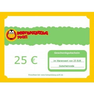 Holzspielzeug Profi Geschenkgutschein 25 EUR