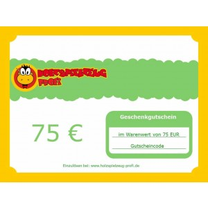 Holzspielzeug Profi Geschenkgutschein 75 EUR