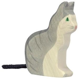 HOLZTIGER Katze sitzend - Holzspielzeug Profi