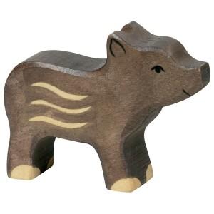 Holztiger Frischling Kleines Wildschwein - Holzspielzeug Profi
