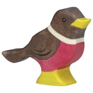 Holztiger Vogel Rotkehlchen - Holzspielzeug Profi