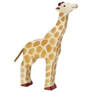 Holztiger Giraffe Kopf hoch - Holzspielzeug Profi