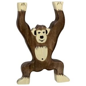 HOLZTIGER Stehender Schimpanse - Holzspielzeug Profi