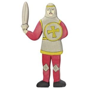 HOLZTIGER Roter Ritter kämpfend - Holzspielzeug Profi