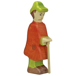 HOLZTIGER Hirte mit Stab - Holzspielzeug Profi