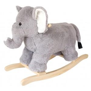JaBaDaBaDo Schaukelelfant aus Plüsch - Holzspielzeug Profi