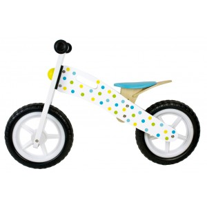 JaBaDaBaDo Laufrad weiß-blau - Holzspielzeug Profi