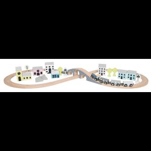 JaBaDaBaDo Eisenbahn-Set im Eimer - Holzspielzeug Profi