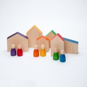 Grapat 6 Häuser & Nins® - Holzspielzeug Profi
