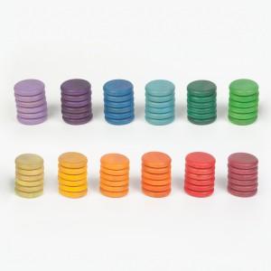 Grapat 72 Scheiben bunt in 12 Farben - Holzspielzeug Profi