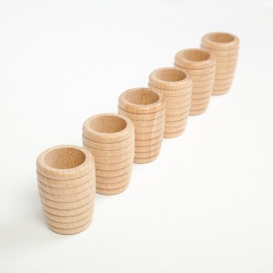 Grapat 6 Wabenbecher Honeycomb Beakers natur - Holzspielzeug Profi