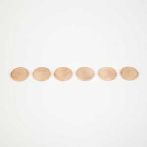 Grapat 6 Scheiben Coins natur - Holzspielzeug Profi