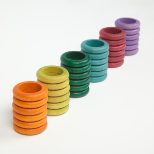 Grapat 36 Ringe alternative Farben - Holzspielzeug Profi