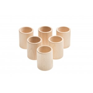 Grapat 6 Becher Cups natur - Holzspielzeug Profi